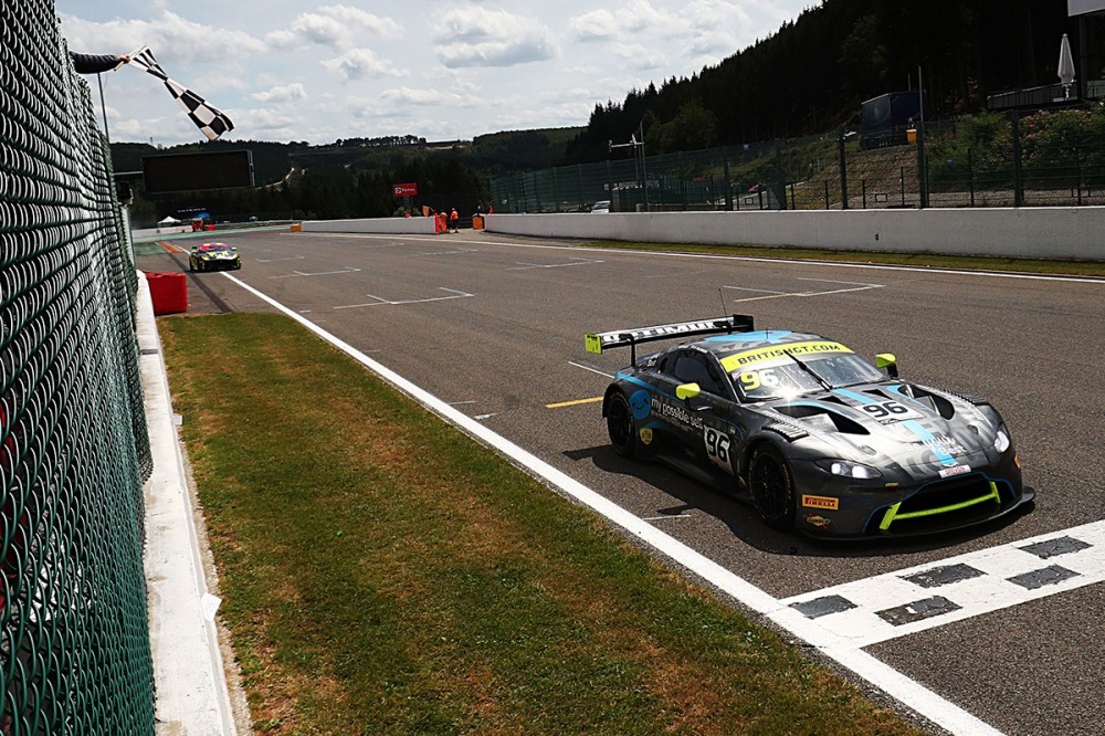 Optimum's Wilkinson and Ellis win British GT's thrilling away day at Spa